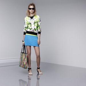 NEW Prabal Gurung for Target Mini Skirt Blue Green
